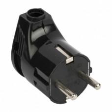 ჩანგალი კუთხის შავი 16А 250V EKF PROxima