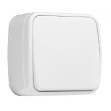 ჩამრთველი 1-კლავიში 10A თეთრი გარე მონტაჟი EKF