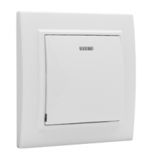 ჩამრთველი 1-კლავიში ინდიკატორით 10A თეთრი EKF Basic