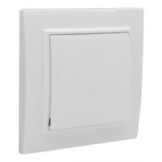 ჩამრთველი 1-კლავიში 10A თეთრი EKF Basic