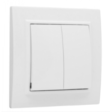 ჩამრთველი 2-კლავიში 10A თეთრი EKF Basic