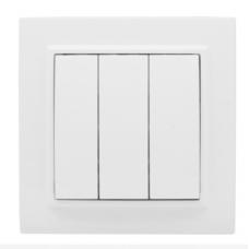 ჩამრთველი 3-კლავიში 10A თეთრი EKF Basic